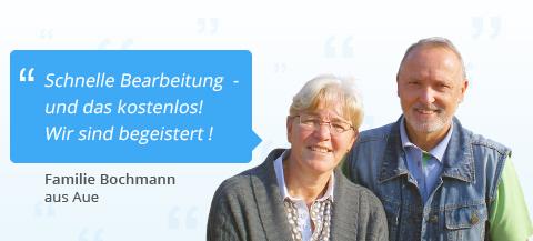 Familie Bochmann aus Aue: Schnelle Bearbeitung  - und das kostenlos! Wir sind begeistert!